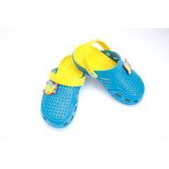 Детские сабо crocs dreamstan бирюзово-желтые
