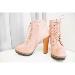 Женские ботинки 118-1 розовые