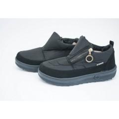Женские ботинки 1901 черные на черной подошве
