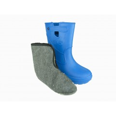 Женские сапоги пенка EVA07 утепленные синие