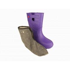 Женские сапоги пенка EVA07 фиолетовые с чулком