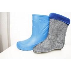Женские сапоги пенка EVA08 утепленные синие