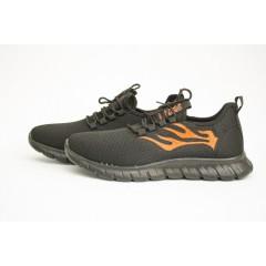 Мужские кроссовки 89109-2 черн-оранжевый