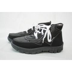 Женские ботинки 112 чёрные подошва чёрная