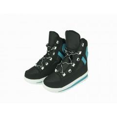 Женские ботинки Аляска черно-белые 445