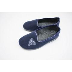 Женские тапочки литин синие