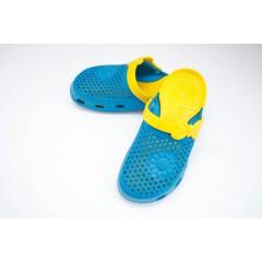 Женские сабо dreamstan crocs желто-бирюзовые