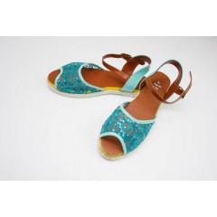Женские сандалии 401 Сетка Синие